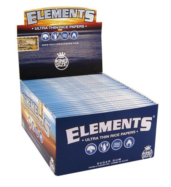 Elements King Size Reispapier (50 x 33 Stück)