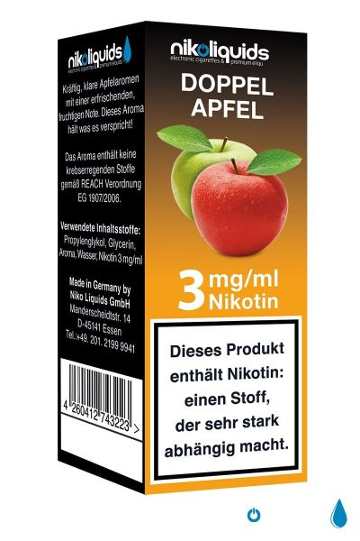 NikoLiquids Doppel Apfel Liquid 3mg Nikotin/ml