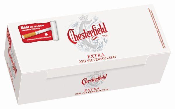 Chesterfield Red Extra Zigarettenhülsen (4 x 250 Stück)