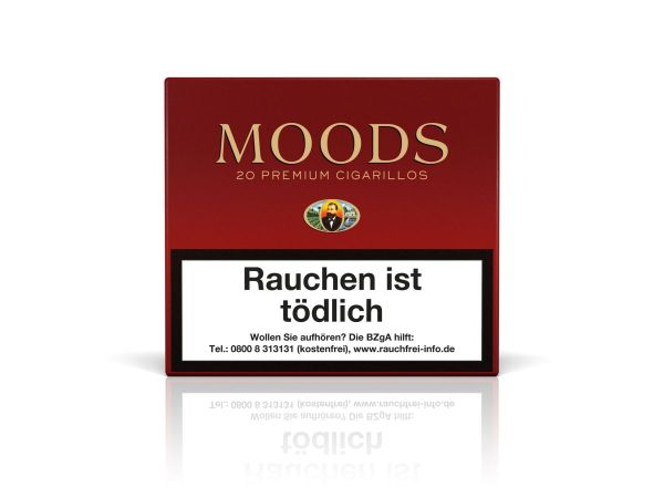Moods Zigarillos ohne Filter (Schachtel á 20 Stück)