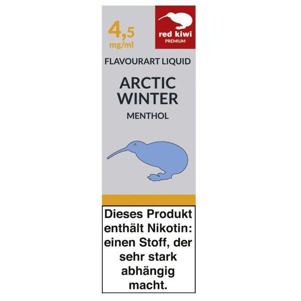 Red Kiwi eLiquid Artic Winter Menthol 4,5mg Nikotin/ml (10 ml)