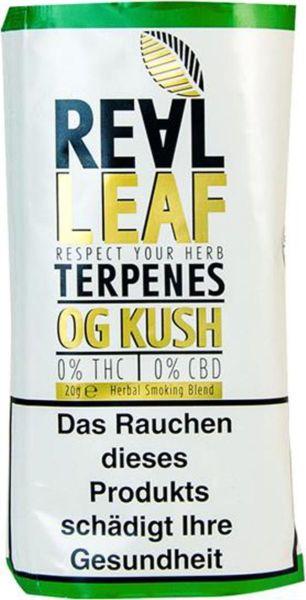 Real Leaf Pfeifentabak OG Kush Kräutermischung (Pouch á 20 gr.)