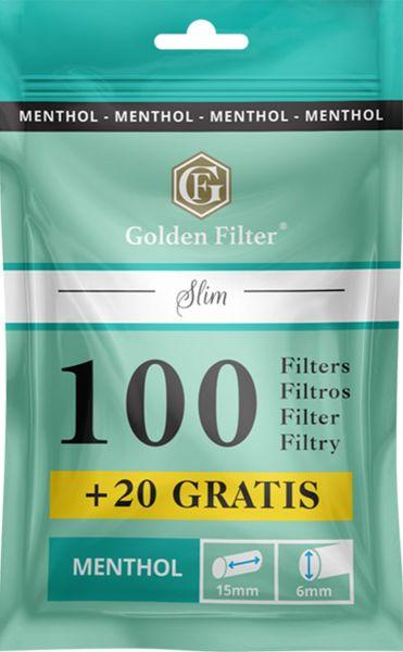 Golden Filter Menthol Slim 6mm (10 x 120 Stück)