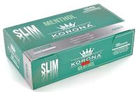 Korona De Luxe Slim Menthol Filterhülsen Zigarettenhülsen (Schachtel á 120 Stück)