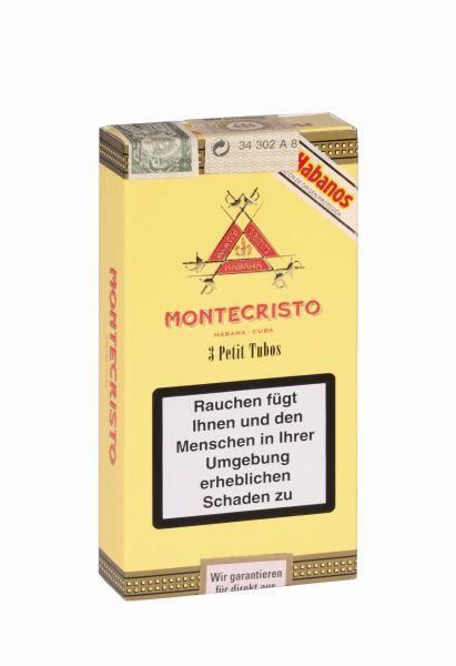 Montecristo Zigarren Petit Tubos (Packung á 3 Stück)