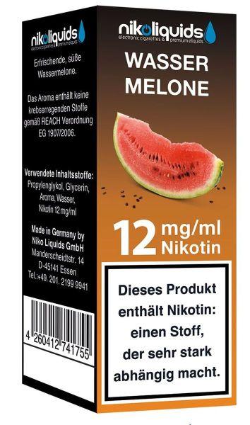 NikoLiquids Wassermelone 12mg Nikotin/ml 1028-12-10-01