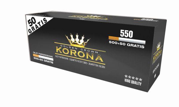 Korona Golden Crown Zigarettenhülsen (Schachtel á 550 Stück)