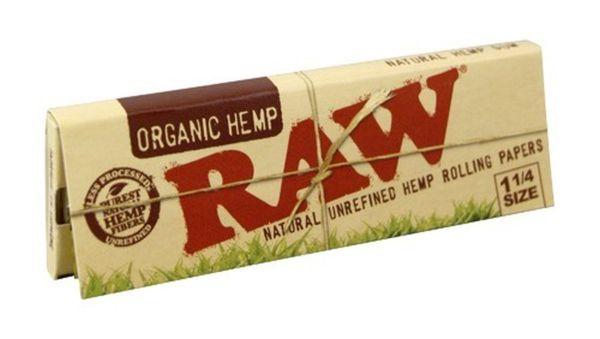 RAW Organic Hemp Hanf Papier 1 1/4 (24 x 50 Stück)