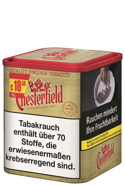 Chesterfield Zigarettentabak True Red (Dose á 95 gr.)