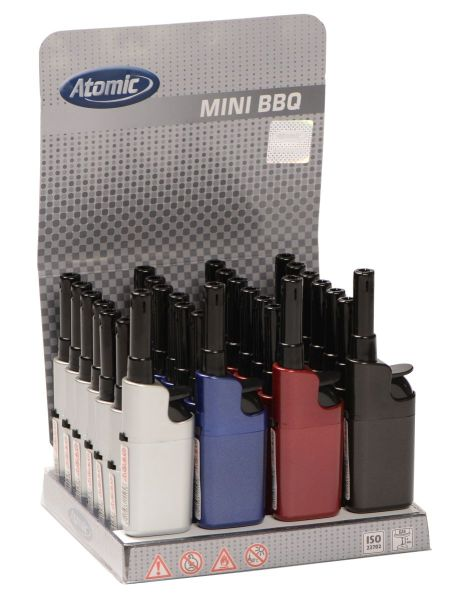 Atomic Mini Stabfeuerzeug BBQ Metallic nachfüllbar (28 x 1 Stk.)