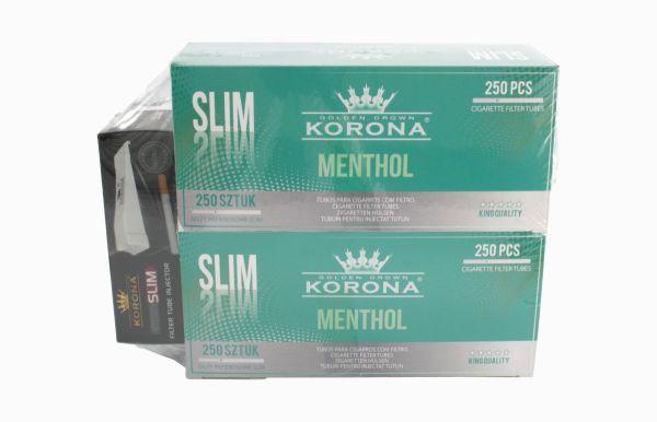 Korona Slim Size Menthol Starter-Set (2x250er & Stopfgerät) (Set á 1 Stück)