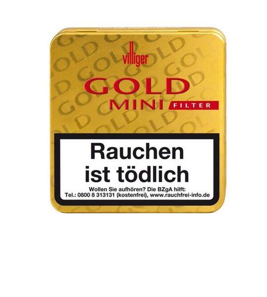 Villiger Zigarren Gold Mini Filter (Schachtel á 20 Stück)