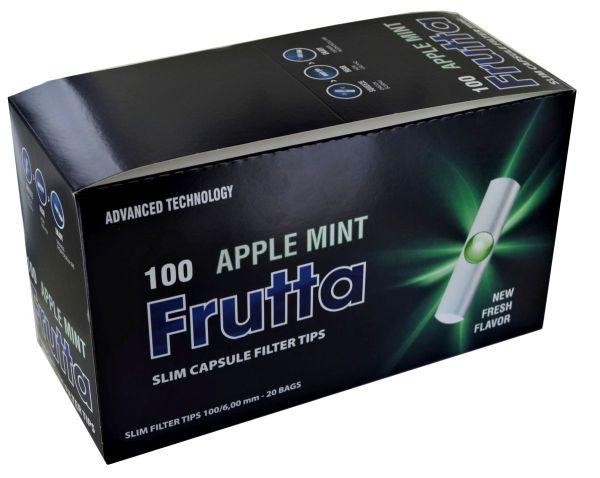 Frutta Apple Mint Slim Click Capsule Filter 6mm (20 x 100 Stück)