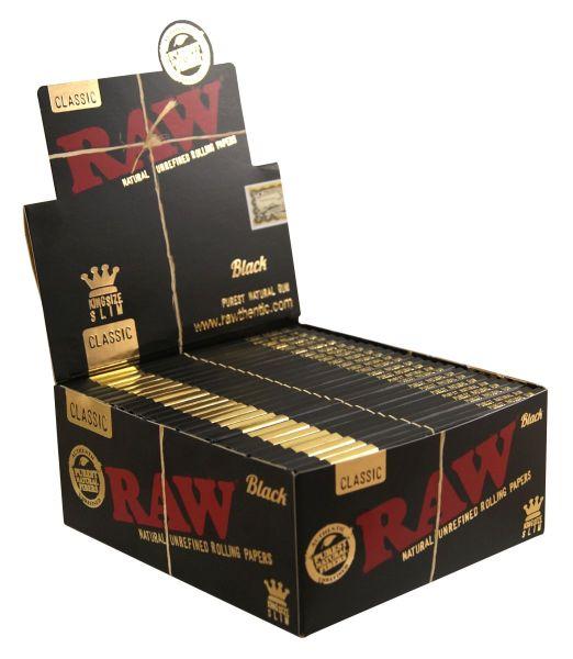 RAW Black Classic Papier King Size Slim (50 x 32 Stück)