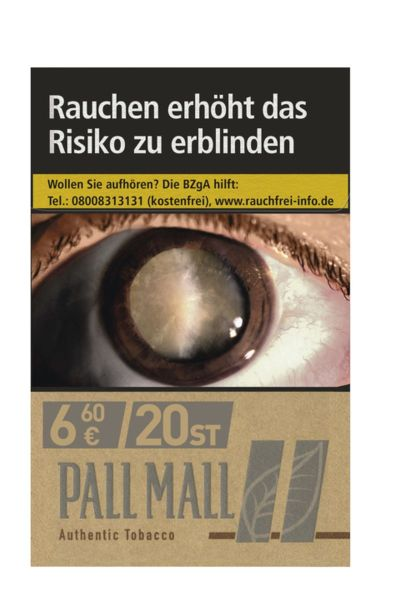 Pall Mall Zigaretten Authentic Silver (10x20er)