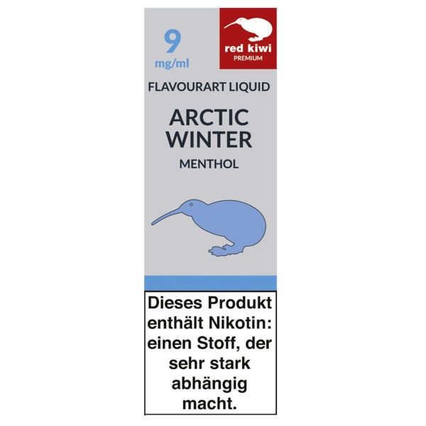 Red Kiwi eLiquid Artic Winter Menthol 9mg Nikotin/ml (10 ml)