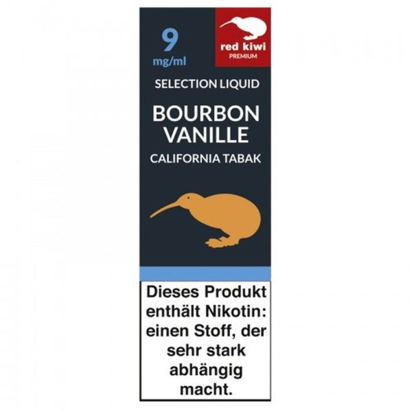 Red Kiwi eLiquid Selection Bourbon Vanille California 9mg Nikotin/ml (10 ml)
