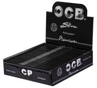 OCB schwarz Premium long slim Papier (25 x 32 Stück)