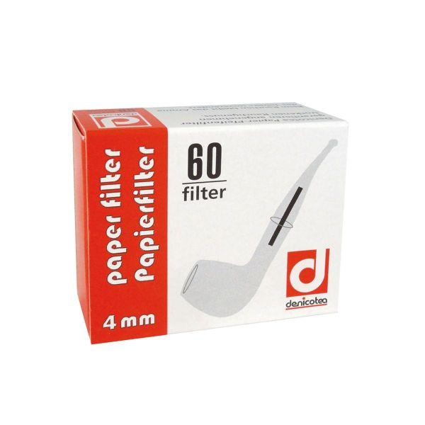 Denicotea Papierfilter 4 mm No. 144 (Schachtel á 60 Stück)