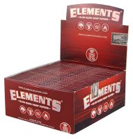 Elements Red Hanfpapier King Size Slim (50 x 33 Stück)