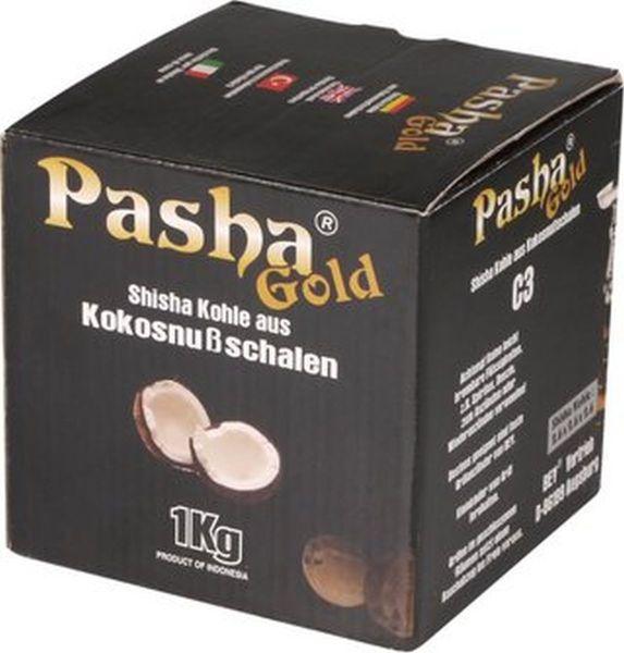 Pasha Shisha Hookah Kohle Gold 1kg (Packung á 1000 gr.)
