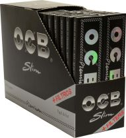 OCB schwarz Premium long slim Zigarettenpapier + Tips 32er (32 x 32 Stück)