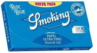 Smoking Bloc Blue Regular Size Papier (70x37mm) (20 x 200 Stück)