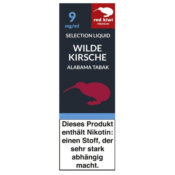 Red Kiwi eLiquid Selection Wilde Kirsche Alabama Tabak 9mg Nikoti (10 ml)