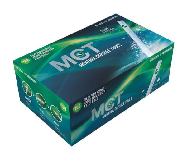 MCT Menthol Click Capsule Filterhülsen Zigarettenhülsen (Schachtel á 100 Stück)