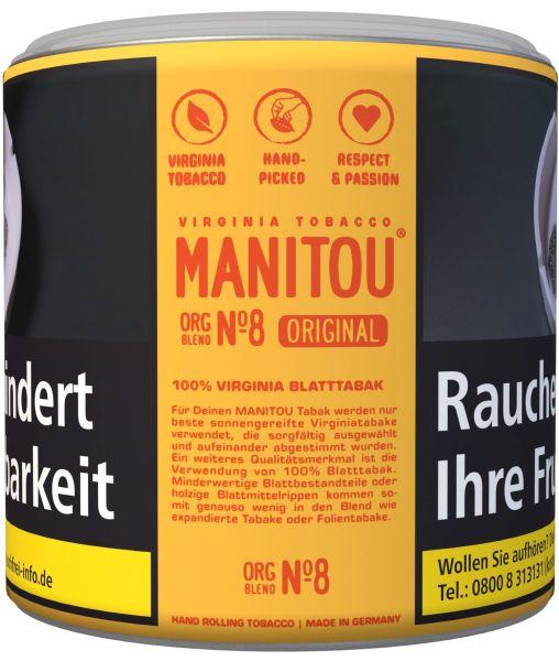 Manitou Zigarettentabak Original Org Blend No. 8 (Dose á 80 gr.)