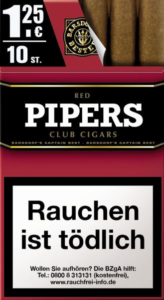 Pipers Little Cigars Cherry / Red