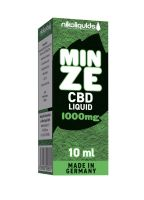 NikoLiquids CBD Minze Liquid 1000mg/ml (Flasche á 10 ml)