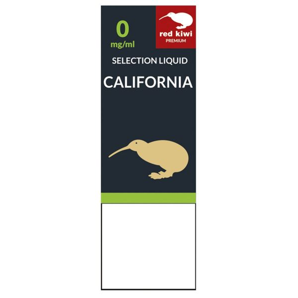 Red Kiwi eLiquid Selection California 0mg Nikotin/ml (10 ml)