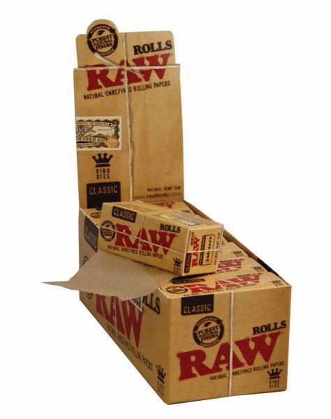 RAW Rolls Classic Papier ungebleicht 3m (12 x 1 Stück)