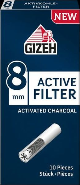 Gizeh Black Active Zigarettenfilter 8mm