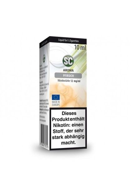 SC eLiquid Pfirsich 12mg Nikotin/ml (10 ml)