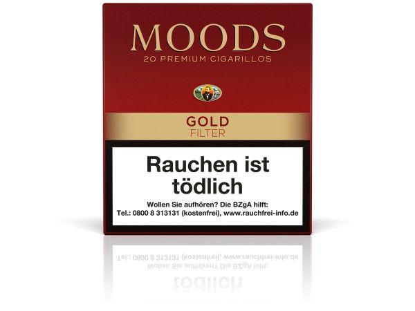 Moods Zigarillos Gold Filter (Schachtel á 20 Stück)