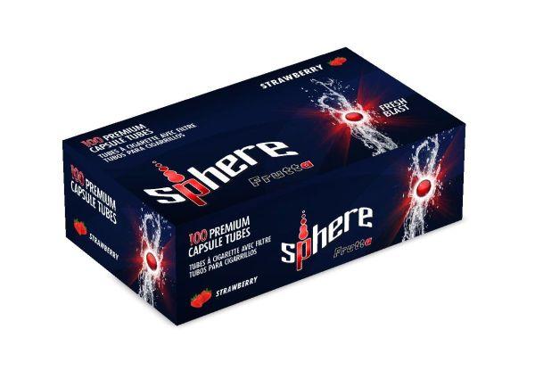 Sphere Strawberry Click Zigarettenhülsen (Schachtel á 100 Stück)