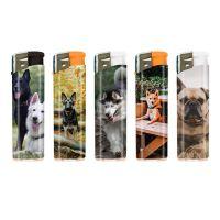 Feuerzeuge Atomic Elektronik F10 Motiv Hunde (50 x 1 Stk.)