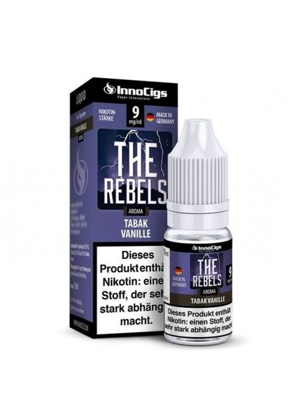 InnoCigs eLiquid The Rebels Tabak Vanille Aroma 9mg Nikotin/ml (10 ml)
