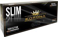 Korona Golden Crown Slim Filterhülsen Zigarettenhülsen (Schachtel á 500 Stück)
