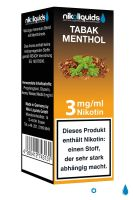NikoLiquids Tabak Menthol Liquid 3mg Nikotin/ml (10 ml)