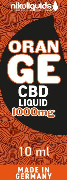 NikoLiquids CBD Orange Liquid 1000mg/ml (Flasche á 10 ml)