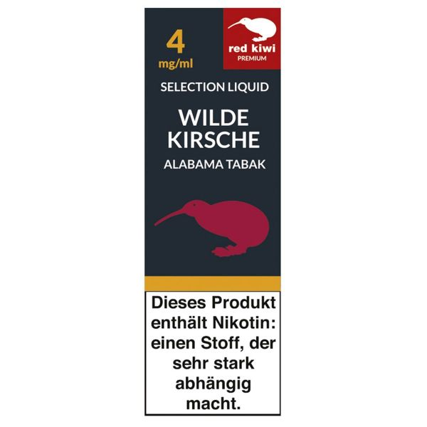 Red Kiwi eLiquid Selection Wilde Kirsche Alabama Tabak 4mg Nikoti (10 ml)