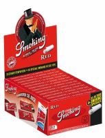Smoking King Size Red Zigarettenpapier + Tips (24 x 33 Stück)