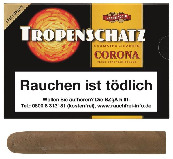Tropenschatz Zigarren 421 F Sumatra Fehlfarben (Schachtel á 5 Stück)
