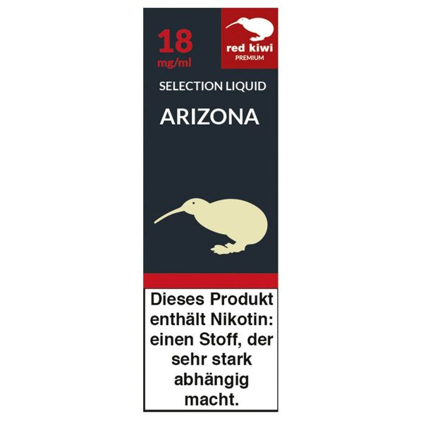 Red Kiwi eLiquid Selection Arizona 18mg Nikotin/ml (10 ml)