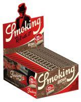 Smoking King Size Brown Zigarettenpapier + Filter Tips (24 x 33 Stück)