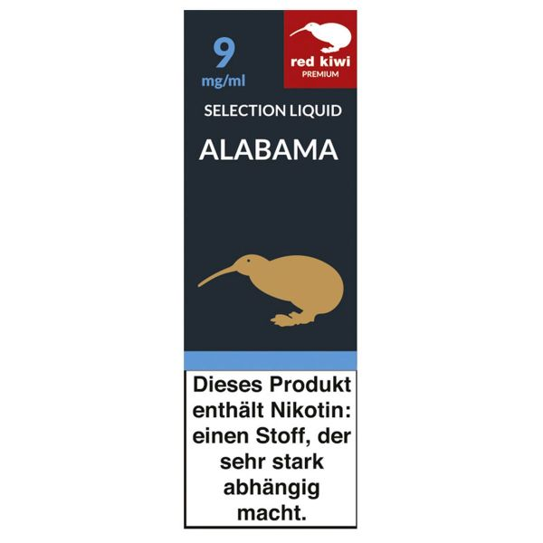 Red Kiwi eLiquid Selection Alabama 9mg Nikotin/ml (10 ml)