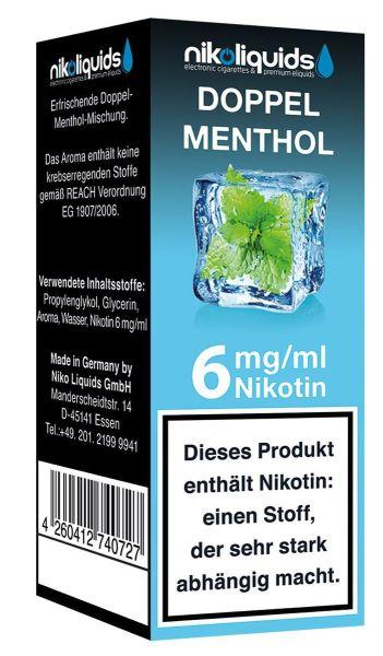NikoLiquids Doppel Menthol 6mg Nikotin/ml (10 ml)